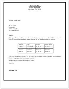 Sample Collection Letter