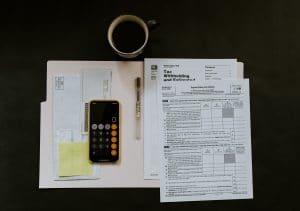 Tax Documents in a Folder
