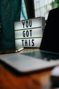 """You Got This"" light up sign"